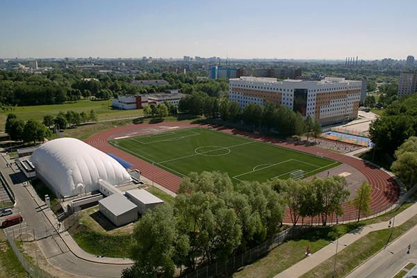 Обновленный стадион БГМУ