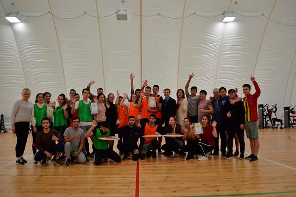 Участие студентов в спортландии