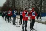 Спортивные состязания в разгар зимы.