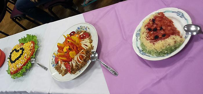 Представление салата на конкурсе
