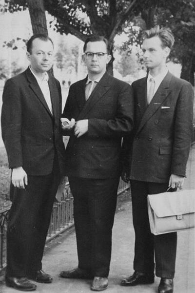 П.И.Лобко, А.С.Леонтюк, В.М.Дечко. Конференция в Воронеже, июль 1963 г.