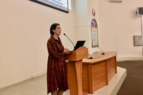 Доцент Е.С. Зайцева на встрече со студентами 1 курса 14.10.2020