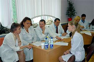 Гос. экзамен по педиатрии на педиатрическом факультете.