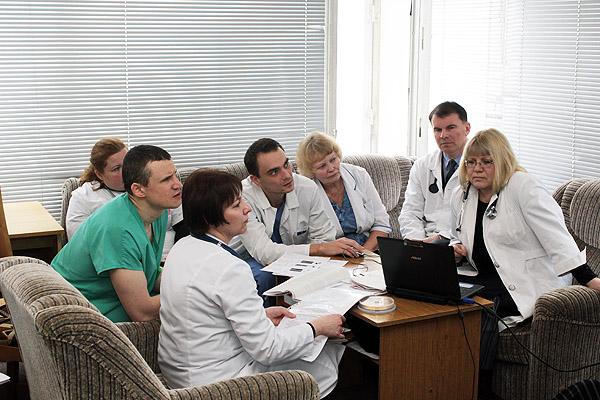 Консилиум с участием профессорско-преподавательского состава 3-й кафедры внутренних болезней в УЗ «9-я городская клиническая больница»