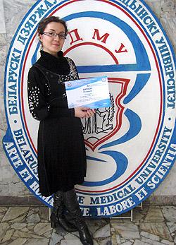 Дриневская Ульяна Петровна − староста кружка в 2009/2010