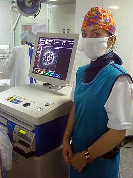 У.П.Дриневская − 2010/2011 г. − проходит интернатуру в отделении рентгенэндоваскулярной хирургии