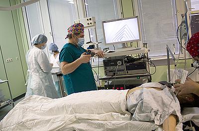 доц Свирский А.А. подготовка оборудования к операции