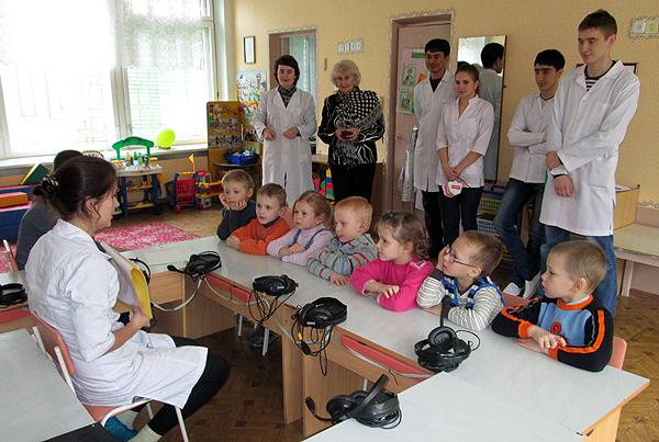 Урок гигиены в группе слабослышащих детей