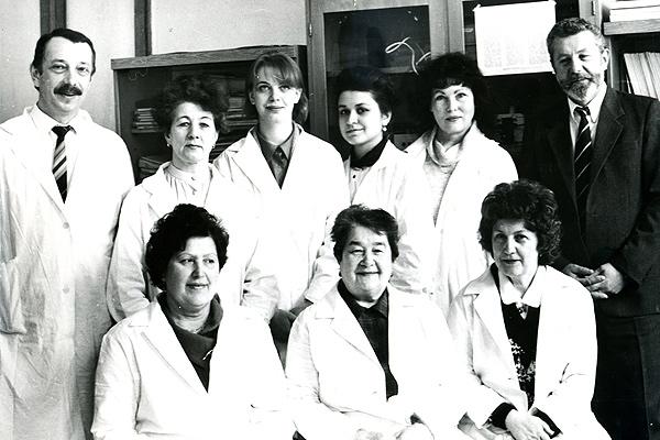 Коллектив кафедры гигиены труда (1980-е годы)
