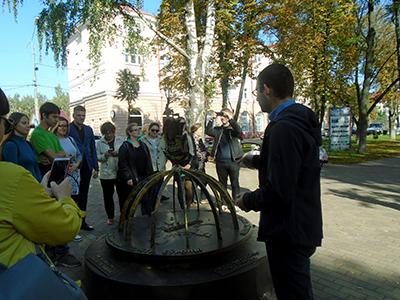 Посещение древнего Полоцка (преподаватели кафедры и студенты).