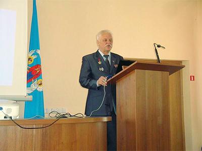 Выступление почетного гостя конференции руководителя  Белорусского общественного объединения ветеранов боевых действий Кругликова Иосифа Александровича