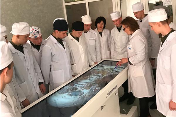 Обучение студентов анатомии с использованием современных технологий – «Анатомического стола»