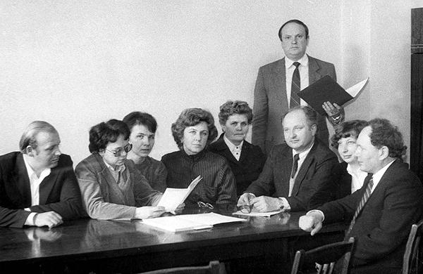 Обсуждение кафедральных вопросов, 1986 г
