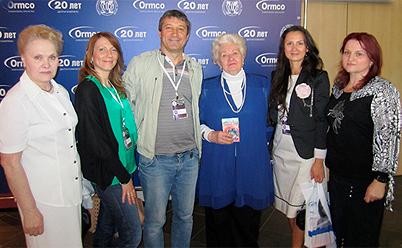 Сотрудники кафедры ортодонтии на съезде ортодонтов (г. Санкт-Петербург, 2012)