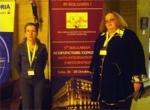 Профессор И.О. Походенько-Чудакова и ассистент Е.В. Максимович