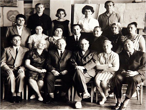 Коллектив кафедры 1966 года