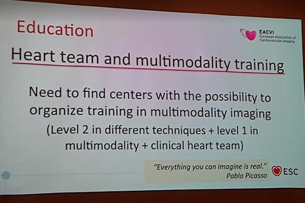 """Резолюции совещания, пункт """"образование"""": """"..необходимо найти центры с возможностью организовать треннинг по мультимодальной визуализации сердца.."""""""